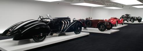Parmi ces monstres sacrés des années 30, les visiteurs du musée des Arts décoratifs pourront admirer la Mercedes SSK, les Alfa Romeo 8C 2300 et 2900, la Bugatti 57 SC Atlantic. (Pierre-Olivier Deschamps)