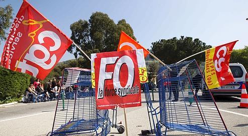 La grève chez Carrefour a été très suivie le 9 avril.