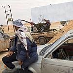 Des rebelles libyens mercredi à Ajdabiya.