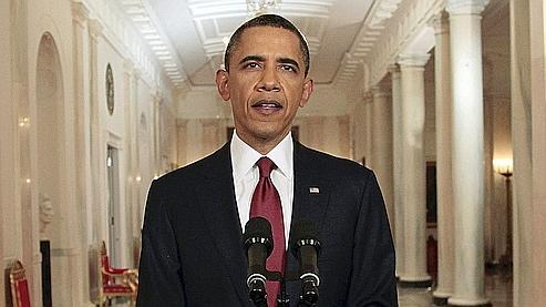 Barack Obama lors de son allocution solennelle à la Maison-Blanche.