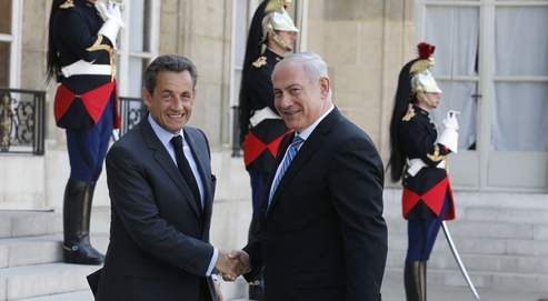 Nicolas Sarkozy et Benyamin Nétanyahou, jeudi à l'Élysée.