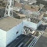 Le réacteur n°1, dont le toit a été totalement soufflé par l'explosion.
