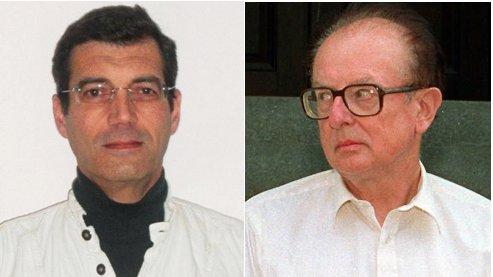 Xavier Dupont de Ligonnès (G) et John List au moment de son procès, en 1990.