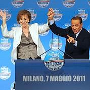 Silvio Berlusconi en campagne à Milan