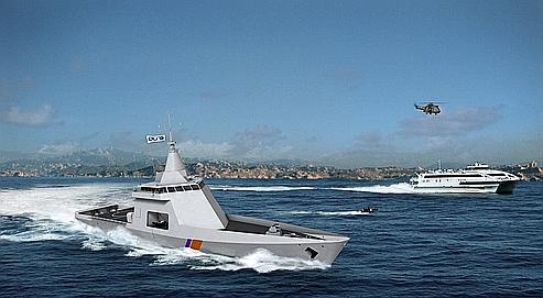 Le premier patrouilleur de la nouvelle gamme Go-Wind doit être livré par DCNS à la marine française à la fin de l'année.