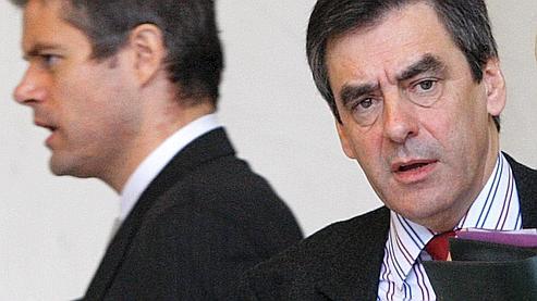 Laurent Wauquiez et François Fillion en décembre 2008.