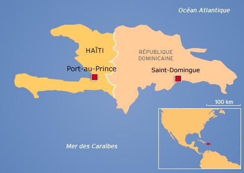 En 1814, l'île est divisée entre la République dominicaine à l'est et Haïti à l'ouest.