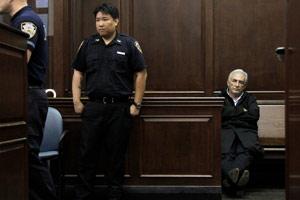 Dominique Strauss-Kahn, avant de passer devant la juge.