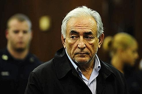 Dominique Strauss-Kahn, lundi, au tribunal. Crédits photo AFP.