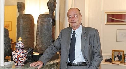 Jacques Chirac, vendredi dans son bureau de la rue de Lille, à Paris.