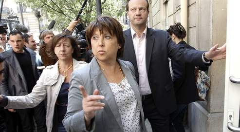 Martine Aubry au siège du Parti socialiste, à Paris, le 17 mai dernier, trois jours après l'arrestation de Dominique Strauss-Kahn.