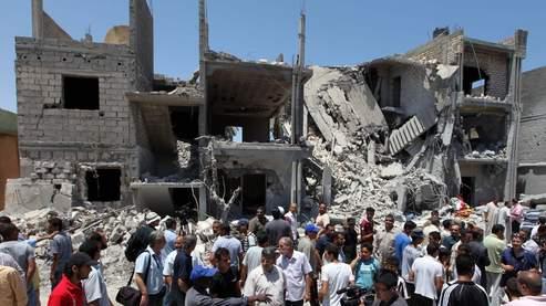 Selon le gouvernement libyen, le tir a fait neuf morts dans le quartier d'habitation d'al-Arada à Tripoli.