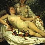 «Les Baigneuses» de G.Courbet.