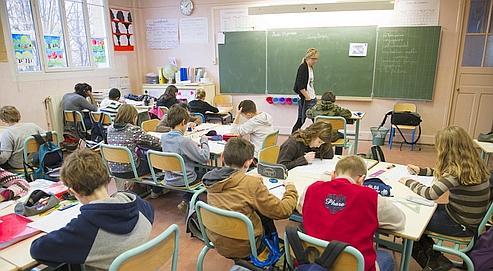 Des élèves d'une classe de CM2, le 18 janvier 2011 dans une école de la région parisienne