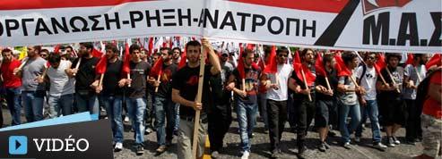 À Athènes, les Grecs se mobilisent contre l'austérité