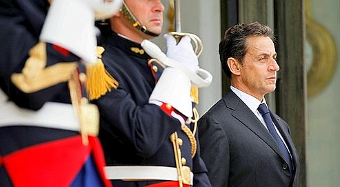 Nicolas Sarkozy,le 21 juin dernier,devant le Palaisde l'Élysée.
