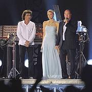 Le couple avec Jean-Michel Jarre.