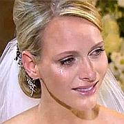 Les larmes de Charlene à Sainte-Dévote. Capture TF1