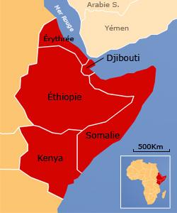Certaines régions du Kenya, d'Éthiopie, de Somalie et de Djibouti sont au bord de la famine.