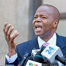 Kenneth Thompson, spécialisé dans les contentieux et les litiges, est l'avocat de Nafissatou Diallo. (Allan Tannenbaum/Polaris/Starface)