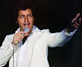 Le chanteur franco-américain, Joe Dassin., en 1979, à Moscou. (AFP)