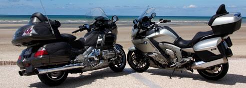 Honda Goldwing 1800 vs BMW K1600 GTL : le choc des titans