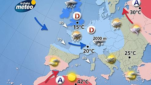 Carte De Leurope Meteo.Carte Meteo De L Europe Effegetangesj