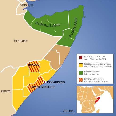Aujourd'hui, ce qui reste de la Somalie est majoritairement contrôlé par les shebab.