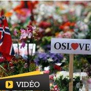 Hommage aux victimes de la tuerie à Oslo