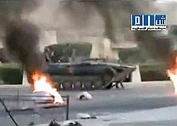 Dimanche, au moins 80personnes auraient été tuées à Hama. (Ici, la capture d'une vidéo postée sur un site de partage en ligne.)