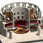 Maquette de l'intérieur du bâtiment (DR)