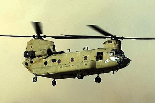 L'hélicoptère Chinookk est la cible régulière des roquettes des talibans.