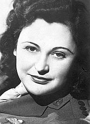 Nancy Wake à la fin de la Seconde Guerre mondiale.