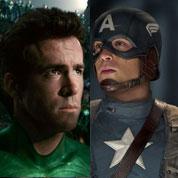 Le match Green Lantern contre Captain America