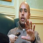 Seif el-Islam Kadhafi lorsd 'une interview le 26 février dernier.