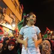 Scène de liesse à Benghazi.