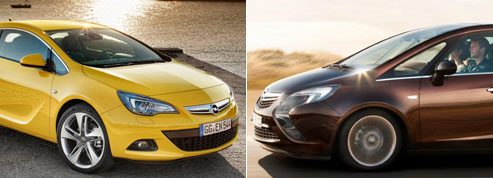 Opel révèle le Zafira Tourer et l'Astra GTC