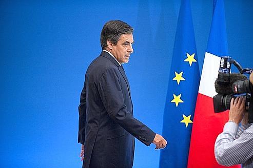 François Fillon, mercredi, lors de son arrivée pour sa conférence de presse à l'Hôtel Matignon.