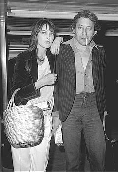 Jane Birkin et Serge Gainsbourg à Londres, en 1977.