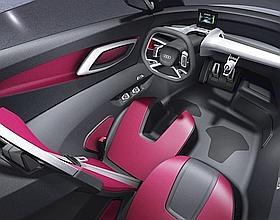 L'intérieur de l'Audi urban concept Spyder.
