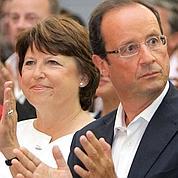 PS : Hollande devant, Aubry fait du surplace