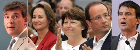 Au PS, François Hollande s'échappe, Martine Aubry fait du surplace<br/>