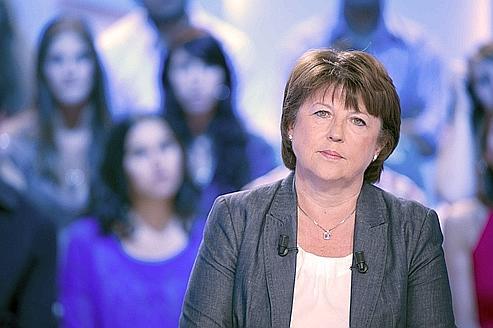 Martine Aubry sur le plateau du Grand Journal de Canal + mardi soir.