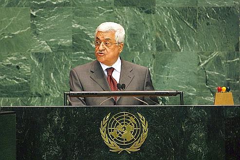 Le président de l'Autorité palestinienne, Mahmoud Abbas, lors d'un discours à l'ONU, en 2006.