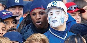 Supporters des yankees lors d'un parade. Crédits photo : Reuters