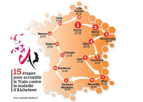 Un train pour informer sur la maladie d'Alzheimer  | Actualité