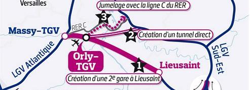 Deux nouvelles gares TGV à Orly et Sénart