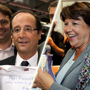 La drôle de journée d'Aubry et de Hollande