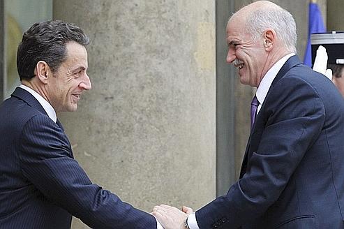Grèce : Sarkozy reçoit Papandréou