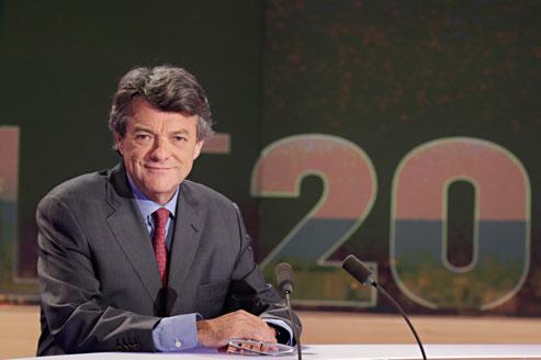 Jean-Louis Borloo était l'invité de Claire Chazal au 20h de TF1.